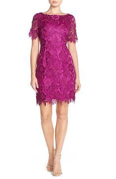 Tahari Scalloped Lace Sheath Dress (Regular & Petite) available at #Nordstrom