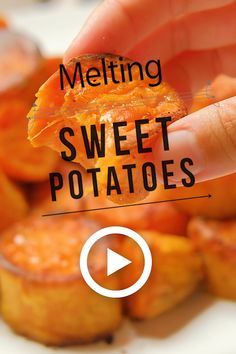 Melting Sweet Potatoes by Spicy Southern Kitchen. This easy recipe is so tender and delicious. They literally melt in your mouth. They are nicely caramelized on the outside and wonderfully creamy and Potato Dishes, Vegetable Dishes, Vegetable Recipes, Oven Roasted Potatoes, Cooking Sweet Potatoes, Baked Sweet Potatoes, Candied Sweet Potatoes, Easy Potato Recipes, Side Dish Recipes