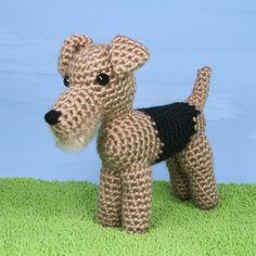 AmiDogs Airedale Terrier amigurumi crochet pattern