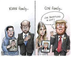"Khan family vs. Con family Trump ""I've sacrificed a lot!"""
