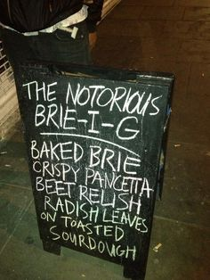 """Most Dalston Things Ever - """"The Notorious Brie-I-G"""