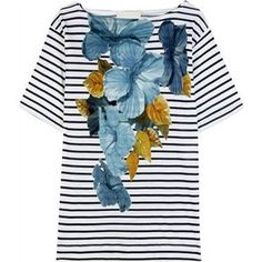 Stella McCartney Hibiscus Stripe Print Cotton Novia Tunic