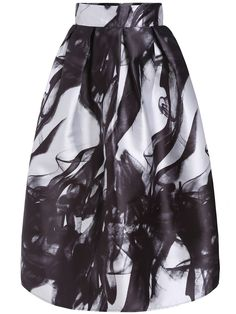 Shop Black White High Waist Smoke Print Skirt online. SheIn offers Black White High Waist Smoke Print Skirt & more to fit your fashionable needs.
