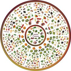 The Wheel of Seasons (La ruota delle stagioni) -- Answer to whether Fruits & Vegetables you bought are seasonal or not? Fruit And Veg, Fruits And Vegetables, Fresh Fruit, Whats In Season, Meals On Wheels, Eat Seasonal, Food Charts, Good To Know, Food Storage