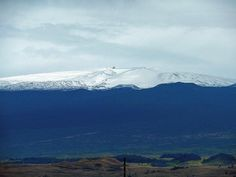 Mauna Kea with snow today. 12/1/16 #bigisland #photooftheday #photography #picoftheday #earthpix #earthsky #maunakea #hawaiisnow #snow