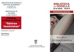 """Actividad día del libro: 23 de abril, biblioteca, 19.00 h. Perfomance-Show """"Sátiras feministas"""""""