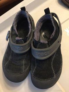 49844286ef34c8 Crocs LeatherGirls Kids Clog Black C 12 Size Faux Fur Spring Enclosed Shoe   fashion