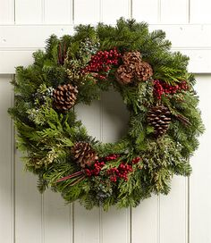 Woodland Eucalyptus Wreath: Dry Wreaths | Free Shipping at L.L.Bean