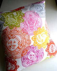 Want this! /Calaveras Day of the Dead punk Pillow / Cushion Cover.