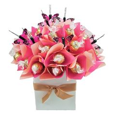 One of my favourites. Lindt, lindt & more delicious Lindt -Pink Passion Chocolate Gift Chocolate Gifts, How To Make Chocolate, Sweet Trees, Chocolate Bouquet, Event Ideas, Bouquets, Gift Wrapping, Valentines, Passion