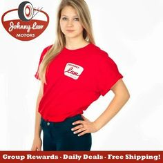 Daily Deal!! ~  THE Johnny Law Motors Large Retro T-Shirt is now $9.95!!! Originally $25.93, you could be saving yourself $15.98!! Order now by clicking the link below....  http://www.johnnylawmotors.com/catalog/Apparel-and-Gifts/Apparel/T-Shirt-Short-Sleeve/1160/L-Red-Johnny-Law-Motors-Retro--T-Shirt&refid=5602  or Call us at 971-222-2551!
