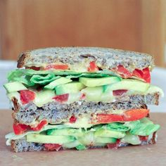 HOOOOOLY VEGAN Garden Fresh Grilled Cheese, please teleport to our plates immediately.