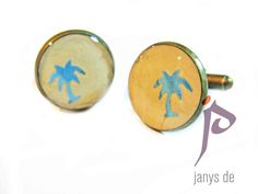 Palm Tree #cufflinks www.janysde.com