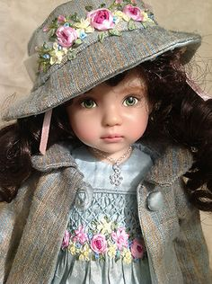 """a repin of """"Spring Bouquet"""" OOAK Ensemble for Dianna Effner's 13"""" Little Darling Doll 