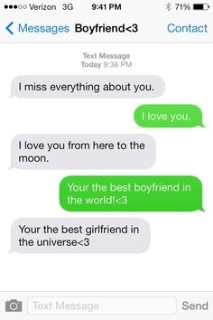 Cute Text Messages To Send To Your Boyfriend Cute Text Messages To ...