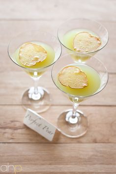 """perfect pear"" - pear liquor, st. germain, pear nectar, dehydrated pear"
