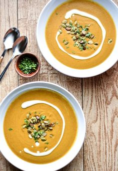 A warm bowl of pumpkin soup on a chilly fall evening is comfort food at its finest. Even better? A warm bowl of pumpkin soup that practically cooks itself. Get out your slow cooker and make this fragrant, coconut milk-laced soup ASAP.