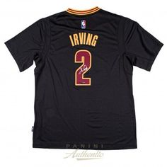 KYRIE IRVING Autographed Cleveland Cavaliers Black Adidas Swingman Jersey PANINI - Game Day Legends