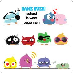 Design: Fastcards www.fastcards.nl - Game over School is weer begonnen