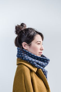 A motif found on a pair of traditional Latvian mittens tessellates across the fabric of this toasty cowl. Accents in a third color lift and energize the fabric, allowing for a wider range of color play. Two of every twelve roundsrequire working all three colors at once to achieve this effect. The Tessera cowl is …