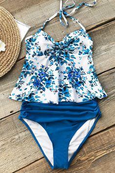 Ocean Voyage Print Bikini – Cupshe Tankini, Begehbarer Kleiderschrank,  Frauen Badeanzüge, Badeanzüge, 488e4a4215