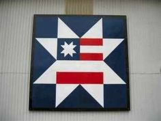 I painted this barn quilt for a fundraiser for a Freedom flight for veterans… Barn Quilt Designs, Barn Quilt Patterns, Quilting Designs, Wooden Barn, Rustic Barn, Painted Barn Quilts, Flag Painting, Barn Art, Patriotic Quilts