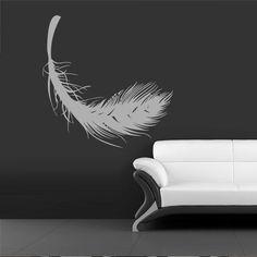 Wall Vinyl Sticker Decals Decor Art Bedroom Design Mural Feather  (z1087)