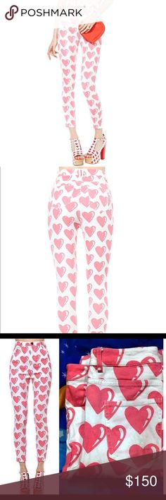 """Lazy Oaf """"From The Heart"""" Jeans These pants are a re-posh. They are adorably and so comfy, but a tad too long in the leg for me. Let me know if you have any questions :) Lazy Oaf Pants"""