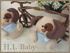 H.I.BABY : Cachorro de tecido para decorar...