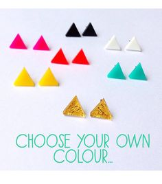 Each To Own Triangle Studs