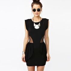 Salecap Sleeve Dress Mesh Cutouts Nwot
