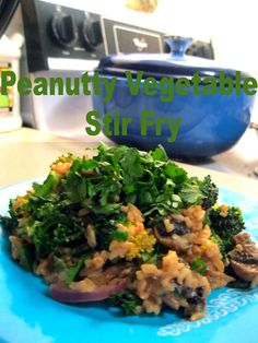 Amy's Nutritarian Kitchen: Peanutty Vegetable Stir Fry