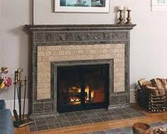 tile fireplace pictures   Indesign Arts and Crafts
