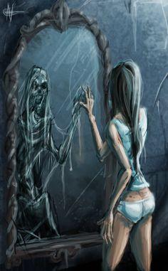Split in the mirror by AspectusFuturus.deviantart.com on @DeviantArt