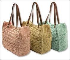 TEJIDOS A CROCHET - GANCHILLO - PATRONES: Handbags crocheted