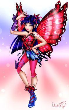 PL: Chyba moja ulubienica w tej serii. Byłem bardzo podekscytowany narysowaniem Musy w tym wydaniu. To mój pierwszy Butterflix który nie składa się z sukienki i patrzą...
