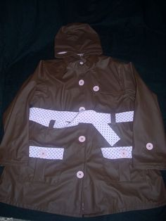 WESTERN CHIEF GIRLS BROWN PINK HOODED LINED RAIN COAT 6 6X #WesternChief #RainGear #Everyday