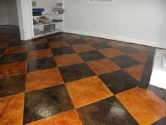 Basement Flooring Options Over Concrete The bar area turnedout