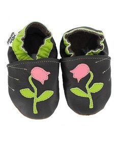 Tulip Leather Baby Shoes by Heba on #zulilyUK today!