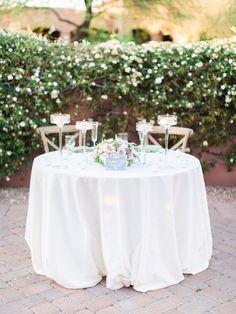La Tavola Fine Linen Rental: Dupionique Ivory | Photography: Rachel Solomon, Event Planning: In Awe Weddings And Events, Floral Design: The Flower Studio