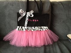 Tutu Tote Bag  In large or small sizes. by FrillyGiraffeDesigns, $30.00