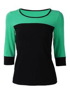 Sale 22% (21.39$) - Sport Women Contrast Color Patchwork Half Sleeve Yoga T-shirt