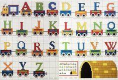 NIETICO ABECEDARIO Cross Stitch Letters, Cross Stitch Borders, Cross Stitch Baby, Cross Stitch Flowers, Cross Stitch Charts, Cross Stitch Designs, Cross Stitch Embroidery, Bead Loom Patterns, Stitch Patterns