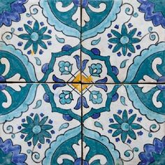 Moroccan tile design blue moroccan tile, morrocan room d Blue Moroccan Tile, Moroccan Print, Tile Stairs, London Design Festival, Tile Patterns, Colour Schemes, Tile Design, Mosaic Tiles, Living Room Designs