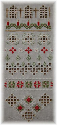 Cols Creations - Traditional Hardanger Designs - The Christmas Collection Make Beautiful Gifts or Just Used To Decorate Your Room Or Tree At Christmas Time. Types Of Embroidery, Ribbon Embroidery, Embroidery Patterns, Hardanger Embroidery, Cross Stitch Embroidery, Cross Stitch Patterns, Cross Stitches, Scandinavian Embroidery, Norwegian Christmas