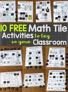 Math tiles are a hands-on activity that takes students thinking beyond procedures and rote memorization. This engaging resource activates critical thinking and problem solving skills, all while developing algebraic thinking. Students must arrange 10 number tiles (0-9) on the various Time to Tile cards in order to correctly complete the mathematical tasks.