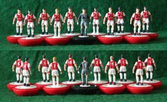 Hand painted Arsenal subbuteo team