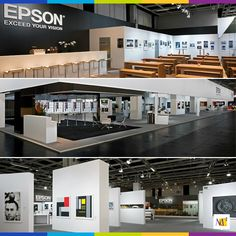 Epson's corporate design needed to be consistent and expressive for their worldwide audience. MC² elaborated their design to convey expertise through an inviting and innovative display.  #eventmarketing #design #tradeshow