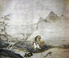 Josetsu - Catching cat-fish with a gourd