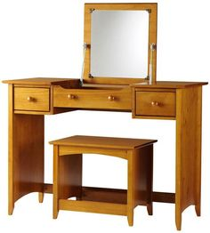 I want this so bad!!! Hawthorne Vanity with Folding Mirror. So I can leave all my makeup sprawled out and then fold down the mirror to make it look neat and tidy!
